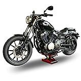 ConStands - Motorrad-Hebebühne Hydraulisch M mit Sicherung Rot 500 KG Tragkraft Motorradlift Motorrad-Scheren-Heber