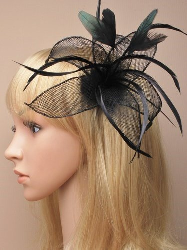 Allsorts Black Feather Beak Clip Fascinator Brooch Pin Ladies Day Royal Ascot  Weddings by Allsorts 9c0486b0a3e