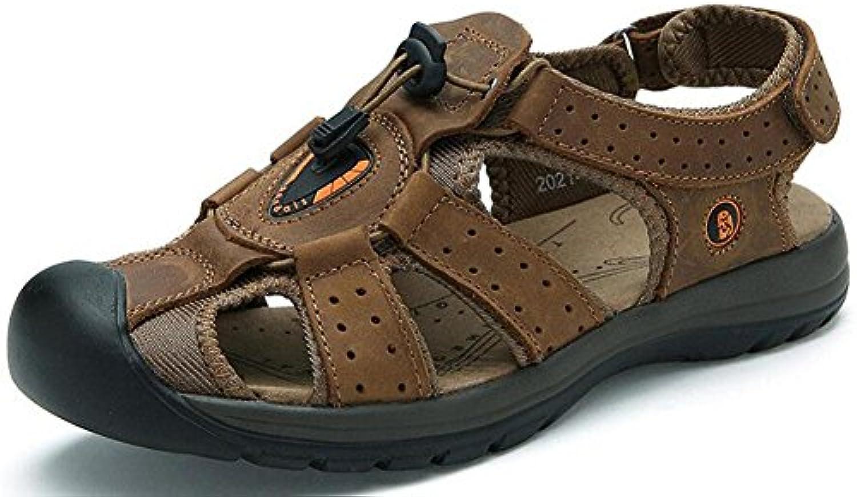 GLTER Respirable Zapatos De Playa Verano Nuevo Hombres Sandalias Impermeables Cuero Sandalias Al Aire Libre ,