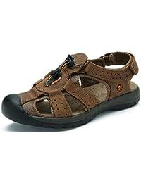 GLTER Respirant Chaussures De Plage ÉTé Nouveau Hommes Sandales éTanches En Cuir Sandales ExtéRieures
