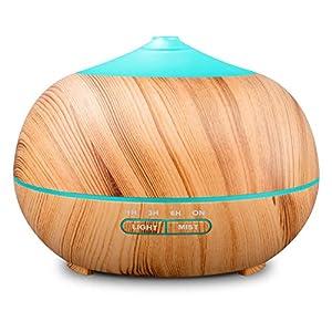 Tenswall 400 ml Luftbefeuchter Ultraschall Diffuser Aromatherapie Luftbefeuchter Ätherische Öle Luftbefeuchter