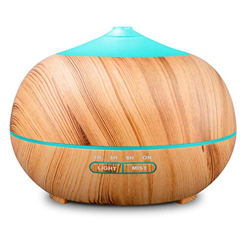 Tenswall Ultrasonic Humidifier 400ml, Aromatherapy Diffuser, Essential Oil Diffuser, 7 LED air purifier colors for Home, Office, Spa, Baby luminotherapy