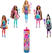 Barbie Color Reveal Doll with 7 Surprises: Water Reveals Confetti Print, Doll's Look & Color Change o