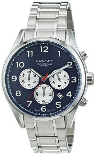 Gant Time Men's Quartz Watch with Black Dial Analogue Display Quartz Stainless Steel GT009001