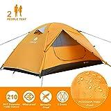 V VONTOX Tente 2 Personnes, Tente de Camping Dôme Ultra Légère, Facile à Installer Imperméable Tente, 3 Saisons, Ventilée pour Pique-Nique, Randonnée, Camping