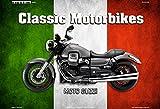 ComCard motog uzzi Italie Classic Moto Plaque en tôle, Metal Sign Tin...