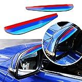 Tuqiang 3 Farben M Styling Auto Rückspiegel Regenschutz Wasserdicht PVC Schutzabdeckung für F10 F11 F18 E60 E71 E72 2 Stück