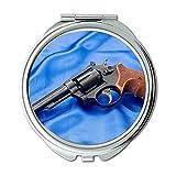 Miroir, miroir de maquillage, prédicateur de mitrailleuse, miroir rond, dernière arme à feu, miroir de poche, miroir portable