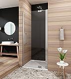 90cm Duschabtrennung Duschtür Duschwand Duschtrennwand mit Nano Beschichtung Höhe 190cm Klarglas Rechts
