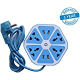Azacus -Hexagon Shape Socket Extension Board With 4 USB 2.0Amp Charging Points