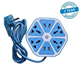 #9: Azacus -Hexagon Shape Socket Extension Board with 4 USB 2.0Amp Charging Points