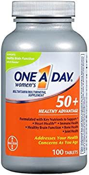 Bayer One-A-Day, Women's 50+, Healthy Advantage, Multivitamin/Multimineral Supplement, 100 Tab