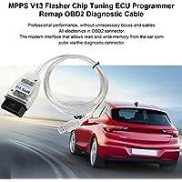 Laurelmartina Profesional MPPS V13 Flasher Chip Tuning ECU Programador Remap OBD2 MPPS V13 Cable de diagnóstico con Multi-Language