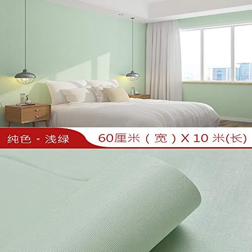 Preisvergleich Produktbild Wohnzimmer tapete selbstklebende schlafzimmer tapete wasserdicht einfarbig wandaufkleber dicke dekorative aufkleber hellgrün einfarbig