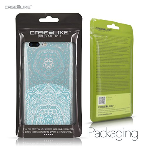 CASEiLIKE Coque iPhone 7 , Ultra Mince Crystal Case TPU Silicone Clair Transparente Exact Fit Soft Housse Etui Coque Pour iPhone 7 Art Mandala 2306