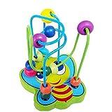 FAMILIZO Niños Bebé Colorido De Madera Mini Alrededor De Active Beads Juguete De Juego Educativo