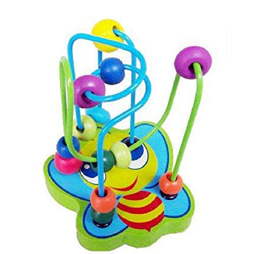 100 nuevo y de alta calidad. Cantidad: 1 Color: Aleatorio Contenido del paquete: 1X Niños Niños Bebé Colorido De Madera Mini Alrededor De Active Beads Juguete De Juego Educativo