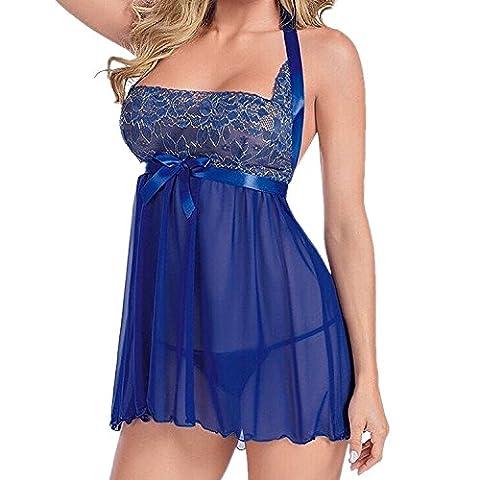 Eleery Robe Femme Lingerie Sous-vêtement Dentelle Top Underwear Bra Babydoll