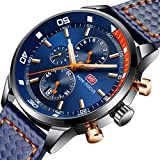 Herren Uhren, Herren Armbanduhr Sport Chronograph Analog Quarz Business Fashion Wasserdicht Sportuhr