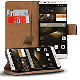 Verco Huawei Mate 7 Hülle, Handyhülle für Huawei Ascend Mate 7 Tasche PU Leder Flip Case Brieftasche - Schwarz