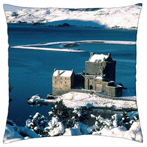 Eilean Donan Castle (Schottland–Eilean Donan Castle Schloss auf Loch Duich–Überwurf Kissenbezug Fall (40,6x 40,6cm))