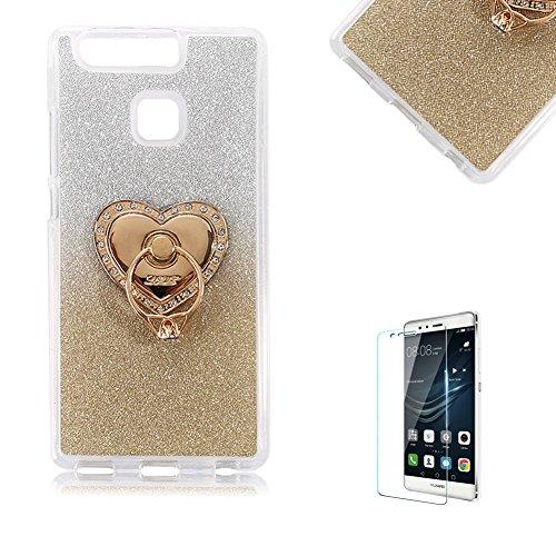 huawei-p9-lite-custodiafunyye-glitter-brillare-oro-graduale-cambiano-colore-stile-cover-con-pellicol