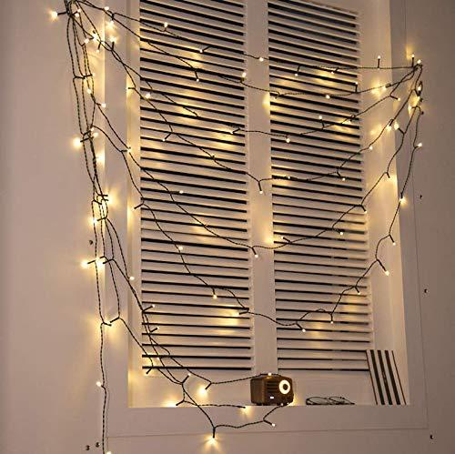 Modellierleuchte Solar Lichterkette Weihnachtsgarten Hochzeit Outdoor Outdoor Wasserdicht Hängeleuchte Gartenlaterne Deko Licht 50 Licht C -