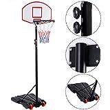 Soporte de Baloncesto Ajustable para niños con Sistema de Tablero de Baloncesto Ajustable para Deportes al Aire Libre