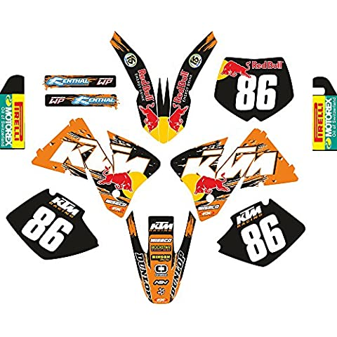 KTM_EXC 05 06 07 125 250 450 525 520 MX Decal Sticker Kit (Non OEM)