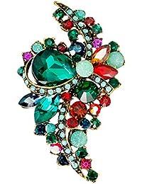 2d7b409f440f Gysad Broches Decoración de diamantes de imitación Broches para ropa mujer  Exquisito y encantador Broches de bisuteria baratos Adecuado…