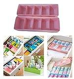 Petits Monelli Compartiments pour tiroirs Organiseur Armoire Organisateur Boîte en Plastique divisée pour sous-vêtements Accessoires Salle de Bain et Chambre d'enfants Rose CF 2pièces