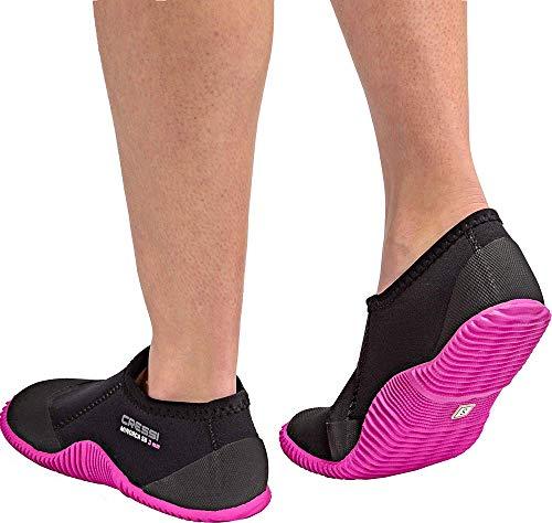 Cressi Minorca Shorty Boots, Calzari Bassi per Immersione Unisex - Adulto, Nero/Suola Rosa, XS-36/37