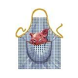 Tobeni® 1718 Schürze Schweinchen für Grill und Küche