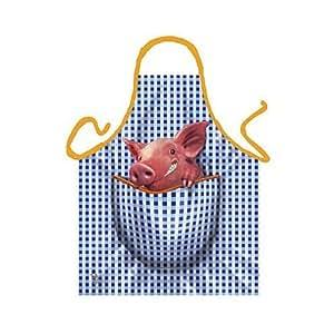 Tablier pour barbecue et cuisine motif petit cochon