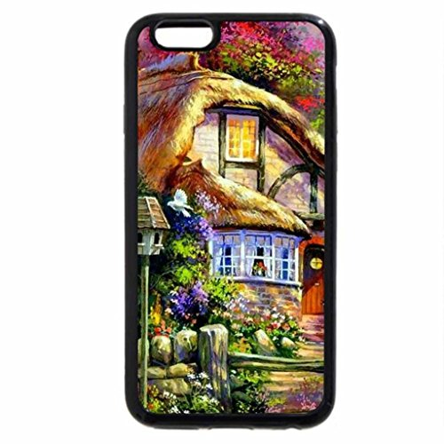 iPhone 6S / iPhone 6 Case (Black) Charming Cottage