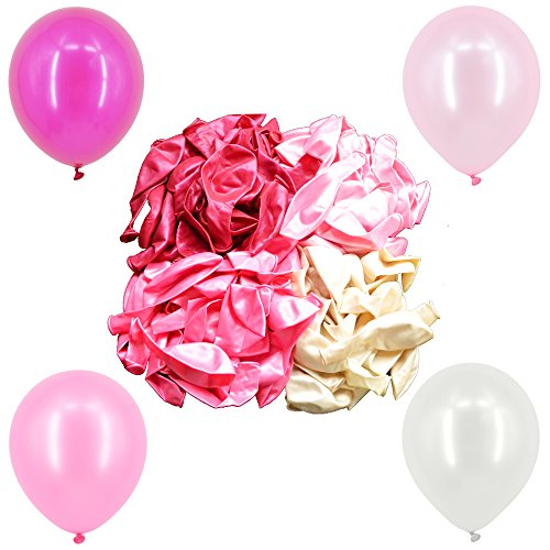 comprare on line Okaytec 100 pz Palloncini con Pompa Manuale Palloncini Colorati per Feste Compleanno, Matrimonio, Palloncino Decorazioni Colorati per Occasioni Speciali - 30 cm Palloncini in Lattice (4 Colori) prezzo