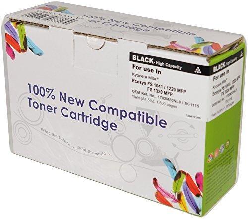 Preisvergleich Produktbild Neuer Toner kompatibel zu TK-1115 für Kyocera Ecosys FS 1041 / FS 1220 MFP / FS 1320 MFP / Kapazität: 1600 Seiten / 100% Neuware / Top Qualität / Farbe: Schwarz
