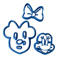 Cuticuter Minnie Face Fondant Cutter, Blue, 8 x 7 x 1.5 cm