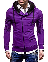 BOLF Men's Sweatshirt Full Zip Hooded Pockets 31S