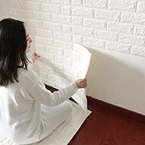 3d brick impermeabile wall sticker mattone decalcomania for Pannelli adesivi 3d