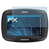 atFoliX Displayschutzfolie für Garmin Zumo 340LM CE Schutzfolie - 3 x FX-Clear kristallklare Folie