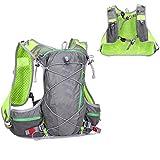 Triwonder Mochila Running Hydration Pack al aire libre Mochilas Trail Marathon Race Hidratación Chaleco (Gris)