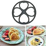 Igemy 4Formes anti-adhésive Poêle à crêpes Flip Parfait Petit Déjeuner machine à oeuf Omelette outils gris