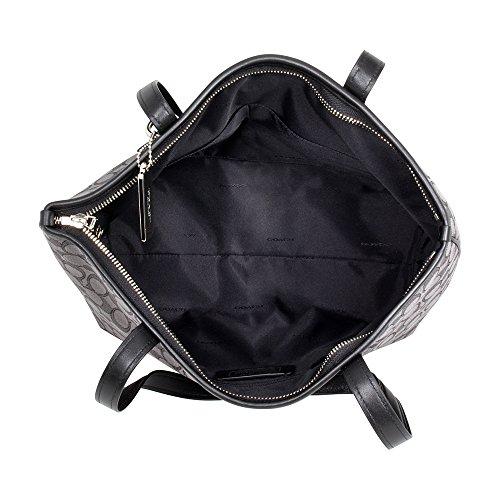Coach, Borsa a spalla donna Silver/Black Smoke/Black