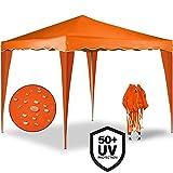 Pabellón Capri 3x3 m color naranja – Carpa Plegable Tienda de Jardín Protección Solar Pop Up