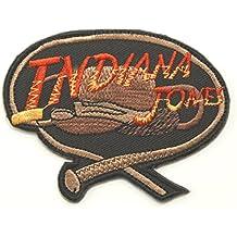 Indiana Jones parche bordado para planchar Insignia 8cm, Souvenir Coleccionable de disfraz Cosplay
