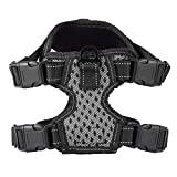 HermosaUKnight Chaleco Ajustable para arnés para Perros Chaleco para mascotas cómodo Suministros para Perros Control fácil-Negro (M)
