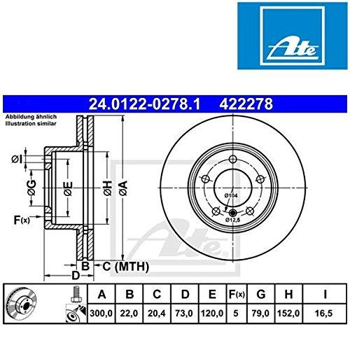 ATE 24012202781 Disque de frein