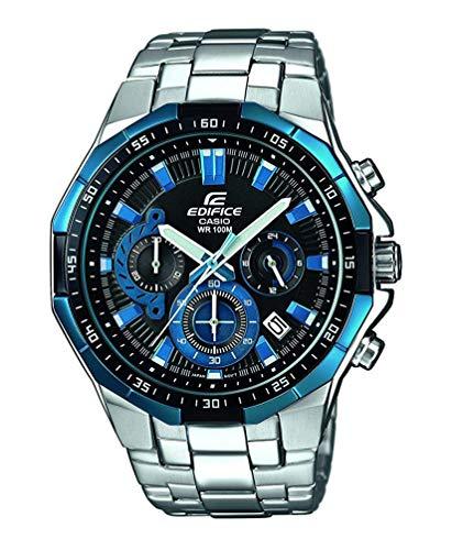 Casio Edifice Herrenarmbanduhr EFR-554D-1A2VUEF, blau schwarz, massives Edelstahlgehäuse und Armband, 10 BAR