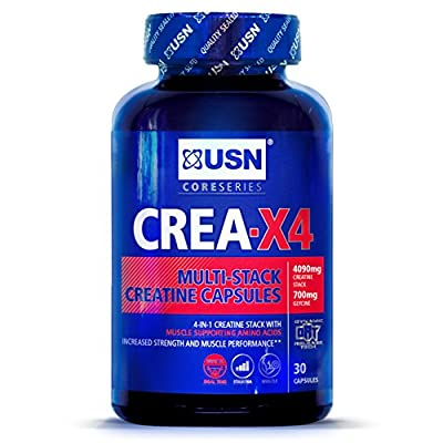 USN Creatine X4 Lean Muscle and Strength Capsules by USN